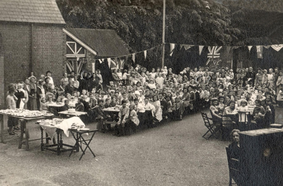 VE Day party in TD - 75 years ago